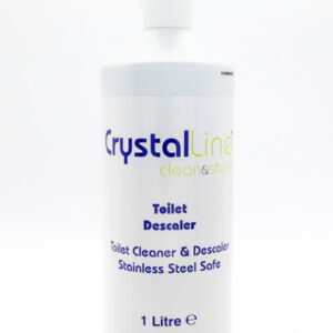 Crystalline toilet descaler