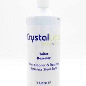 Crystalline toilet descaler